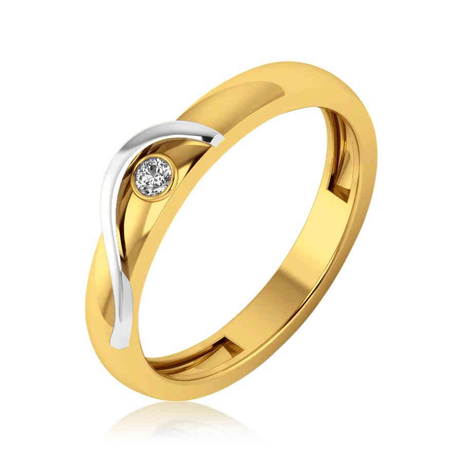 Single Small Diamond Ring