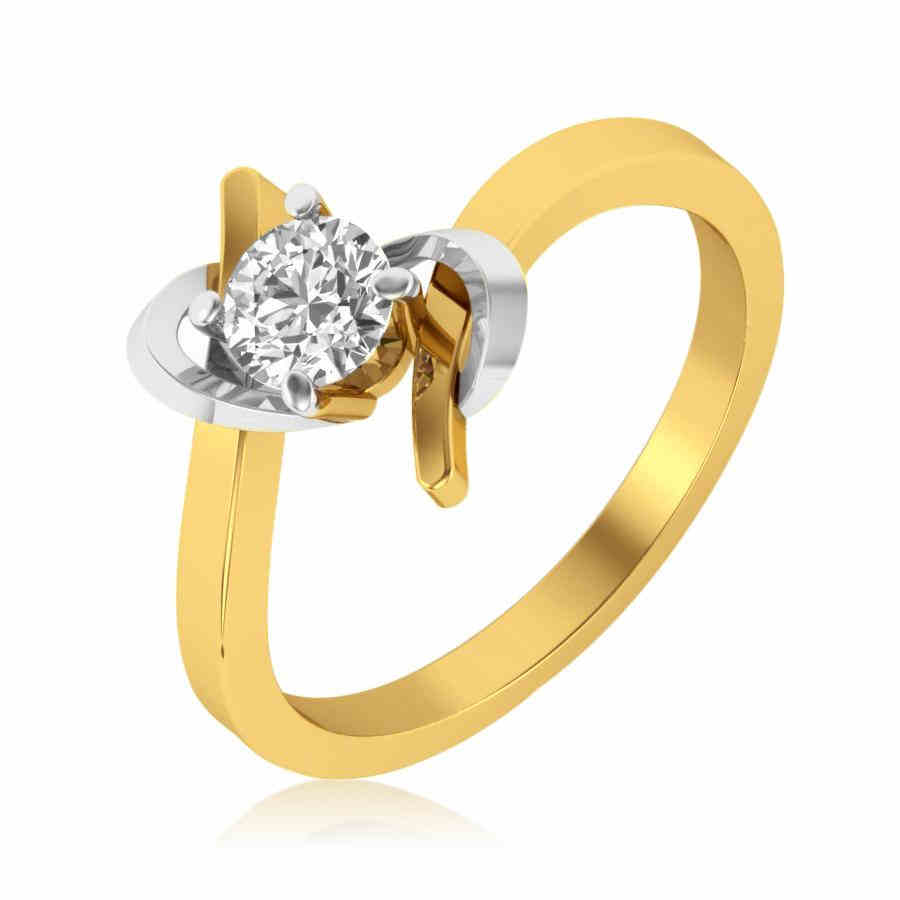 Twisty Solitaire Diamond Ring