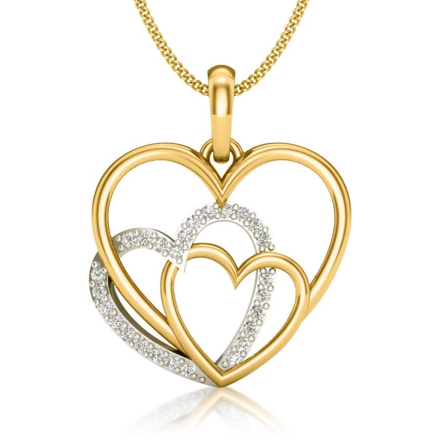 Shining Hearts Diamond Pendant