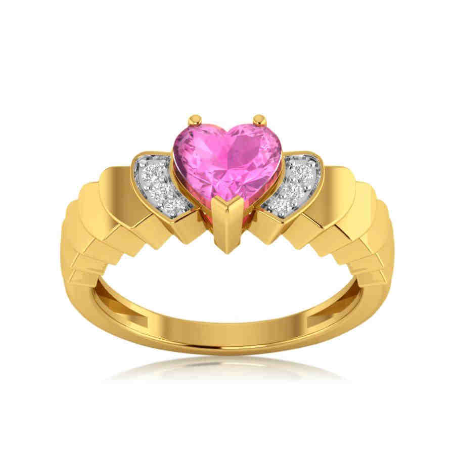 Pink Love Diamond Ring