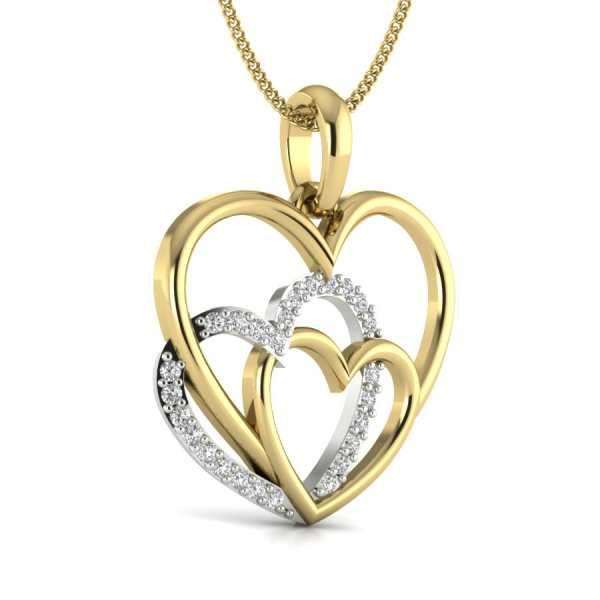 Shining Hearts Diamond Pendant