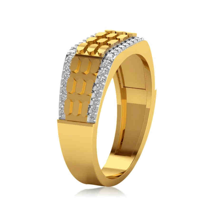 Rounded Diamond Ring