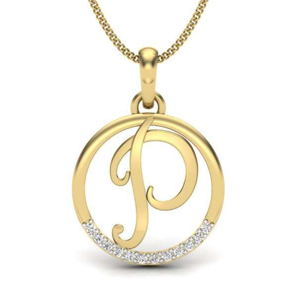 Letter P Diamond Pendant