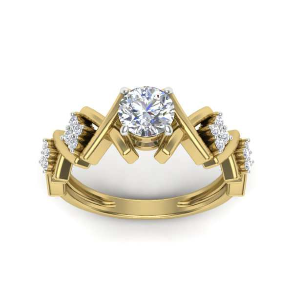 Crown Shaped Diamond Ring