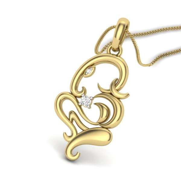 Glittering Ganesha  Pendant