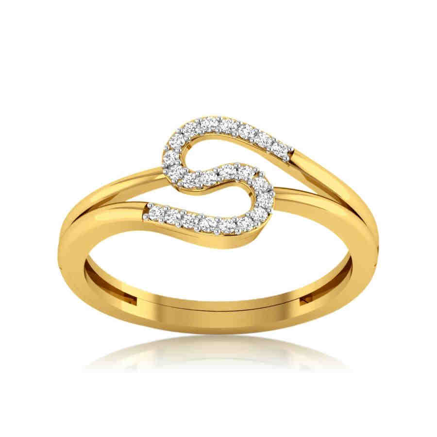 S Shape Diamond Ring