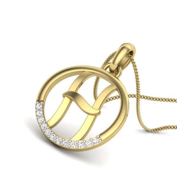Letter H Diamond Pendant