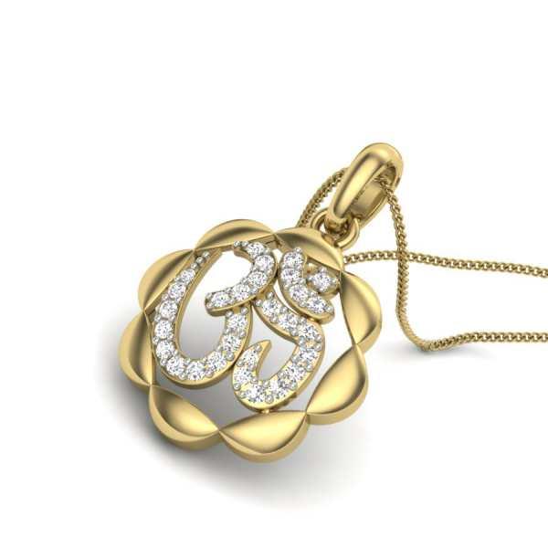 Divine OM Diamond Pendant