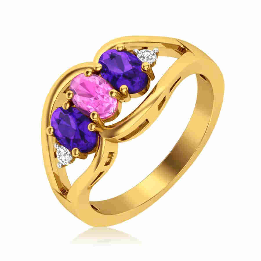 Colourful Diamond Ring