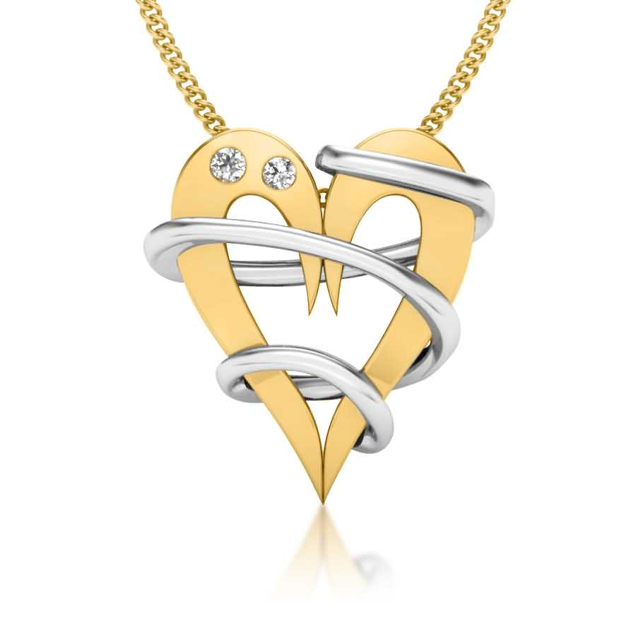Entangled Love Diamond Pendant