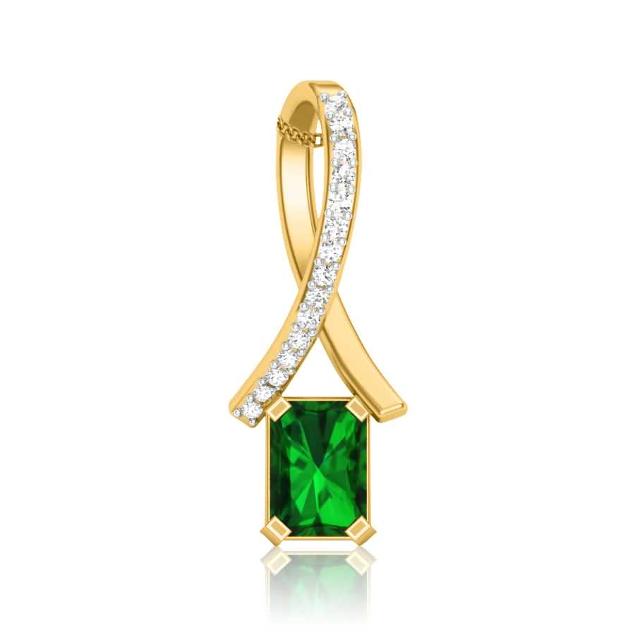 Knotted Emerald Pendant
