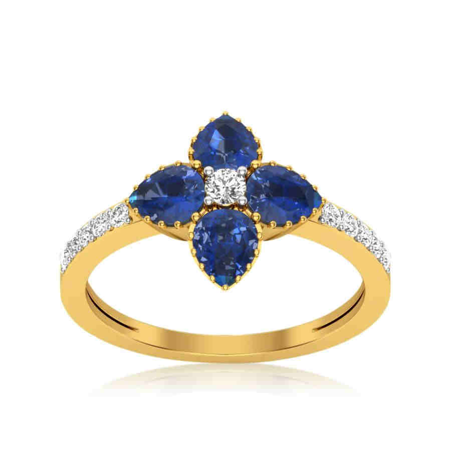 Magic Blue Diamond Ring
