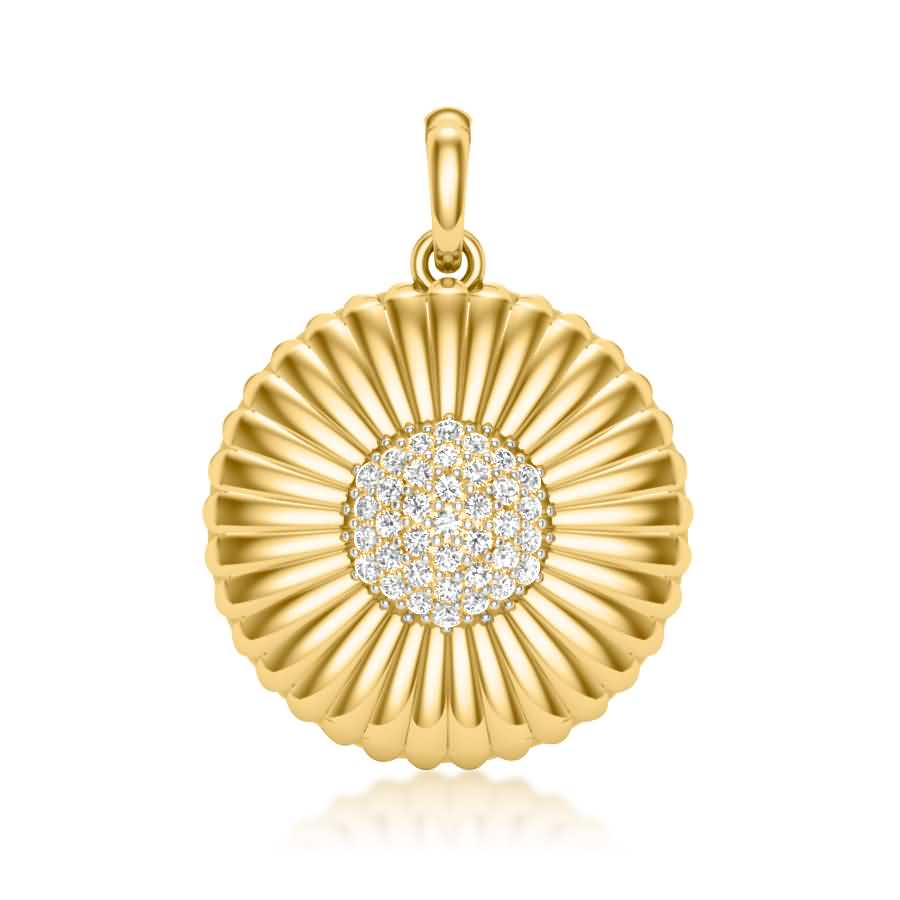Sun Flower Shape Pendant