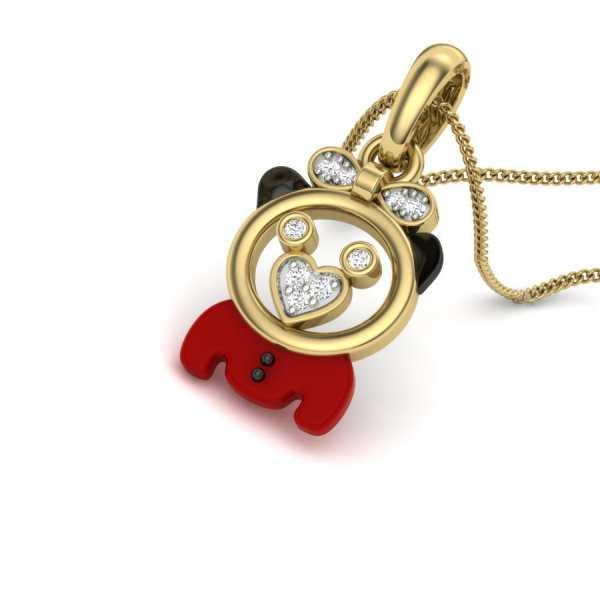 Cute Baby Diamond Pendant