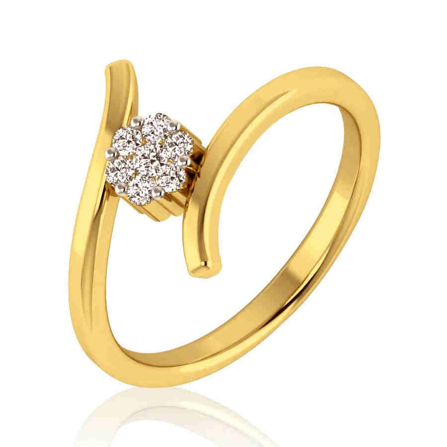 Austere Floral Diamond Ring