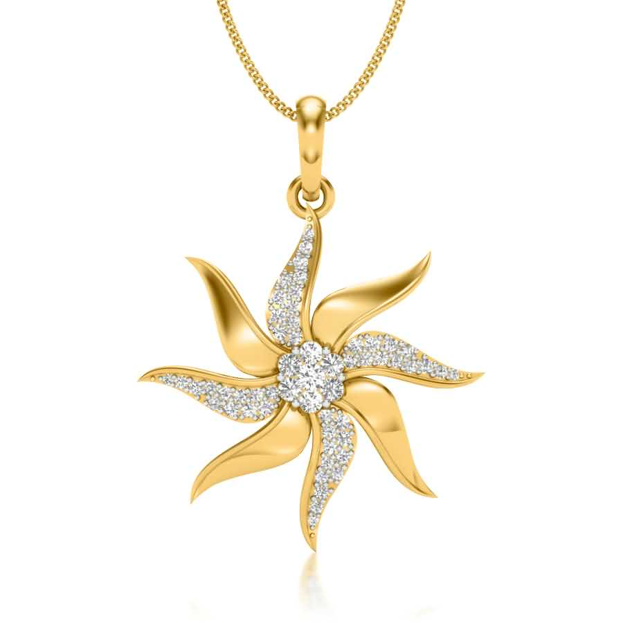 Shining Star Diamond Pendant