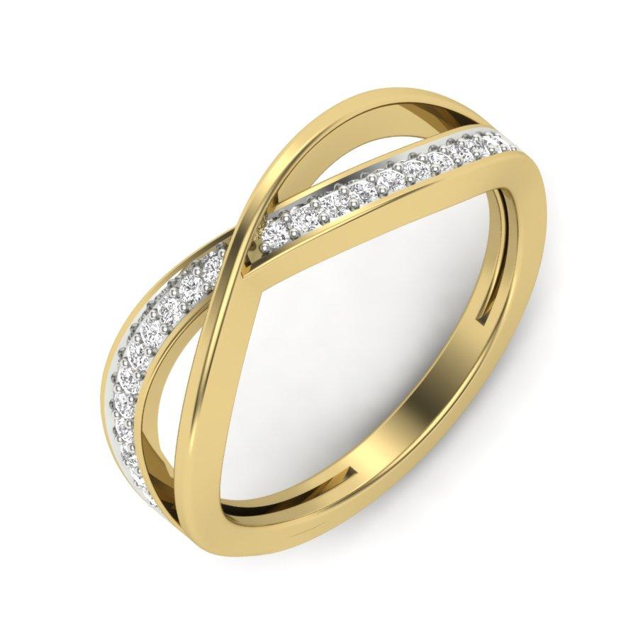 Petite Twist Diamond Ring