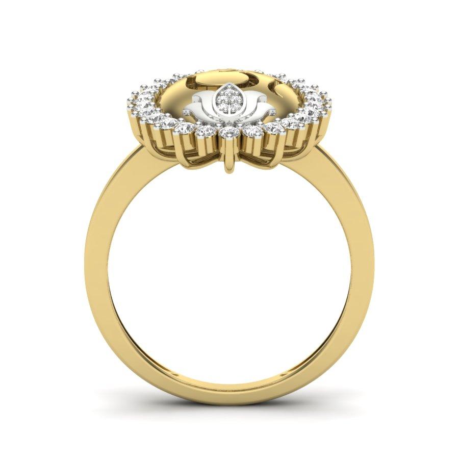 OM with Lotus Diamond Ring