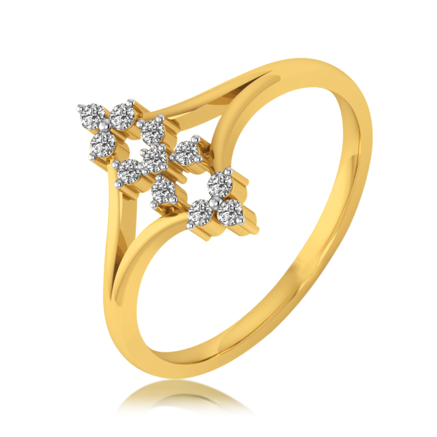 Full on Floral Diamond Ring