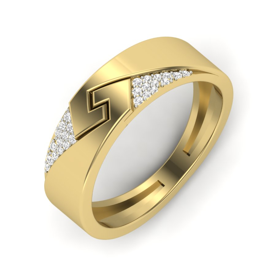 Tringle Shape Diamond Ring