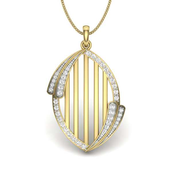 Crossover Diamond Pendant