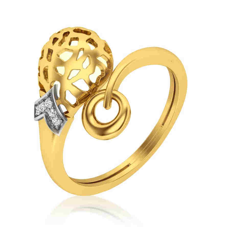 Trendy with 5 Diamond Ring