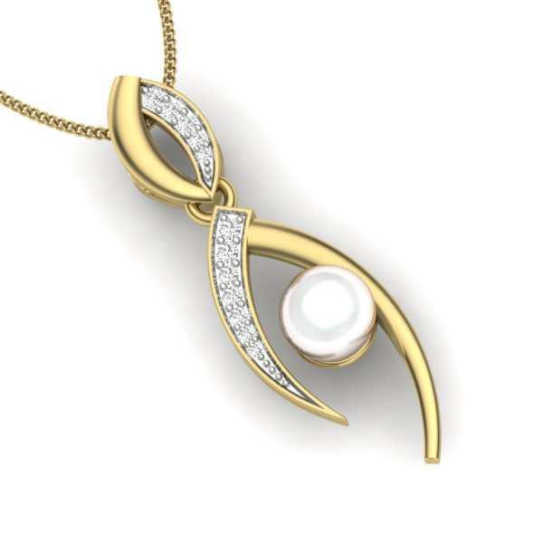 Pearl in Infinity  Pendant