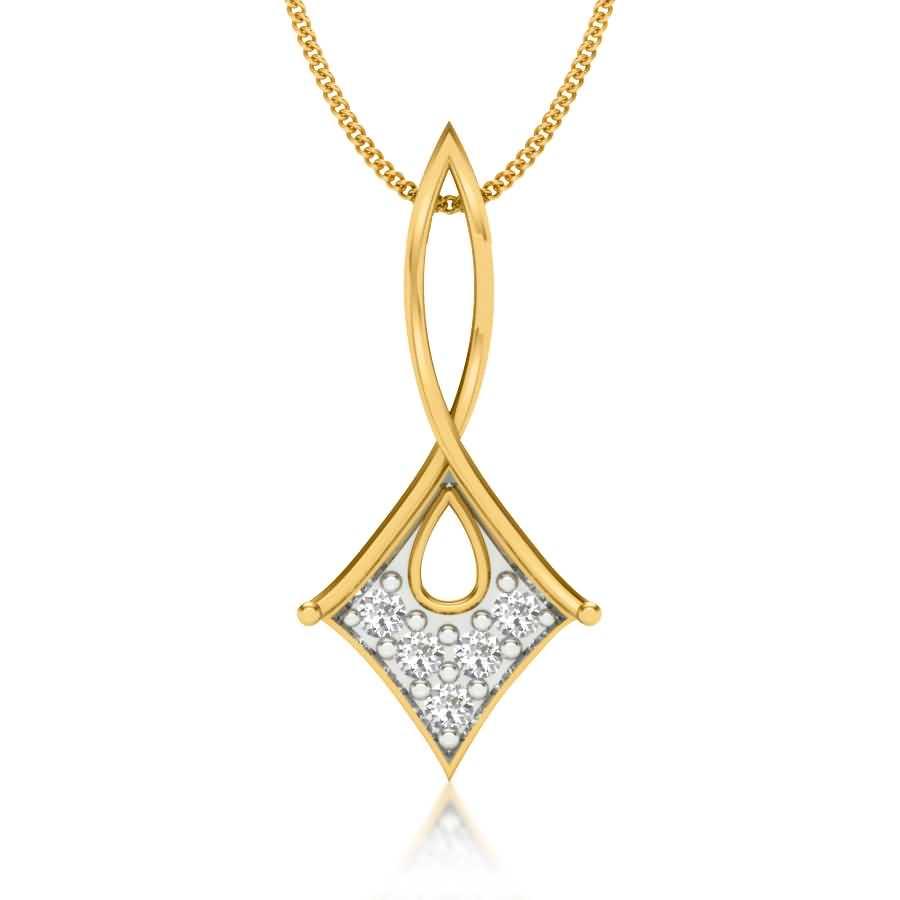 Curvy Kite Diamond Pendant