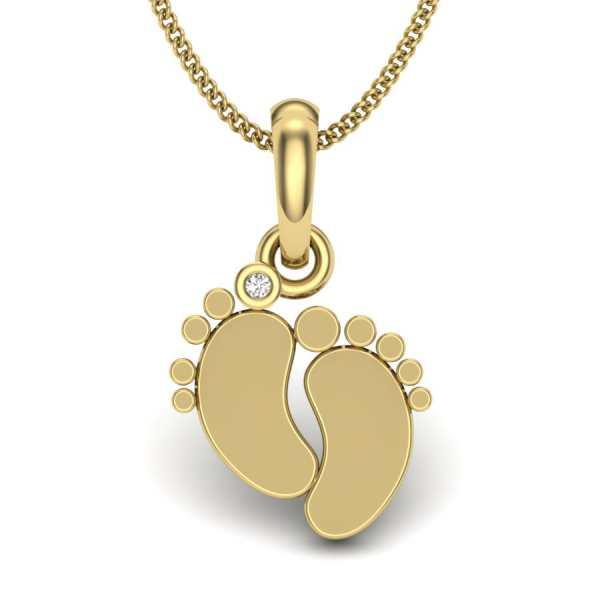 Lucky Feet Diamond Pendant