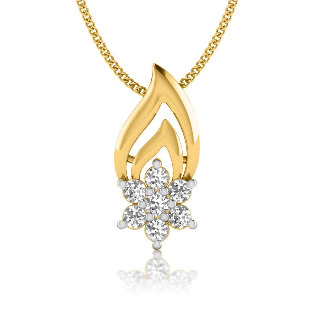 Drop It Floral Diamond Pendant