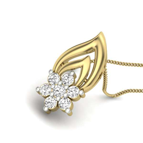 Drop It Floral Diamond Pendant