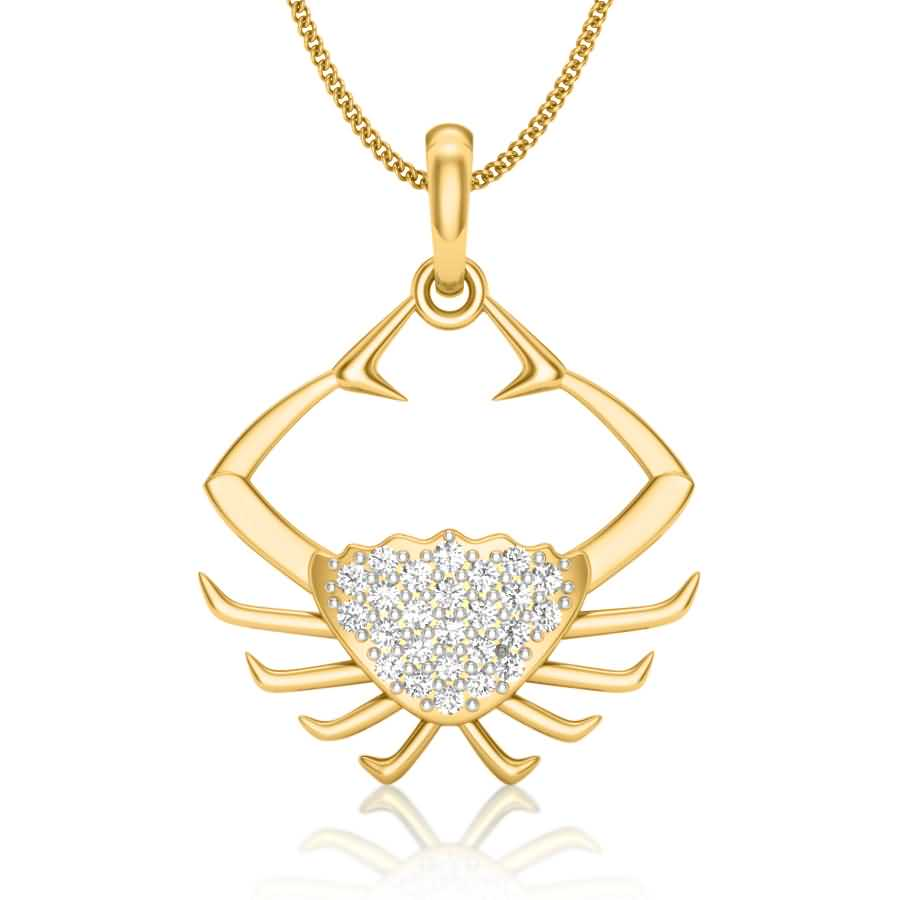 Crazy Crab Diamond Pendant