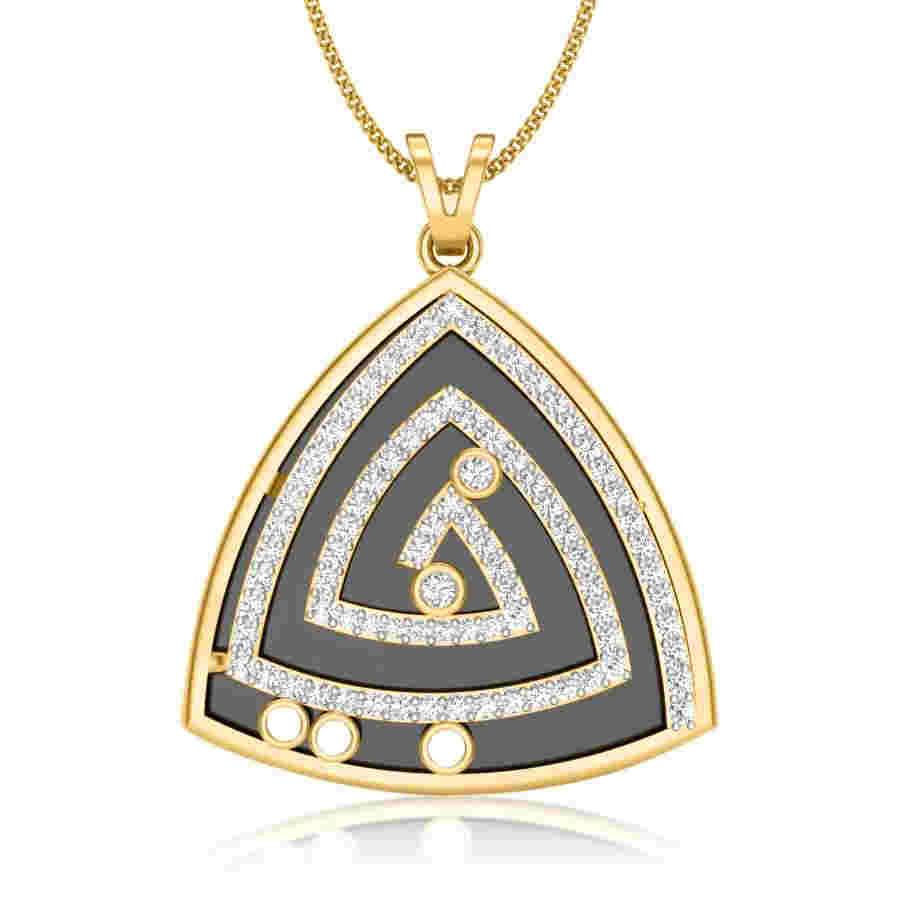 Trinagle Maze Diamond Pendant
