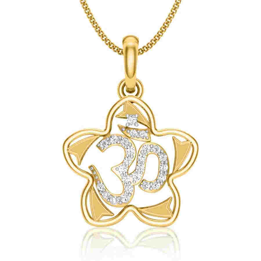 OM Star Diamond Pendant