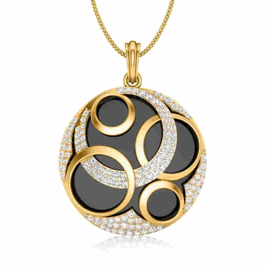 6 Circles Diamond Pendant