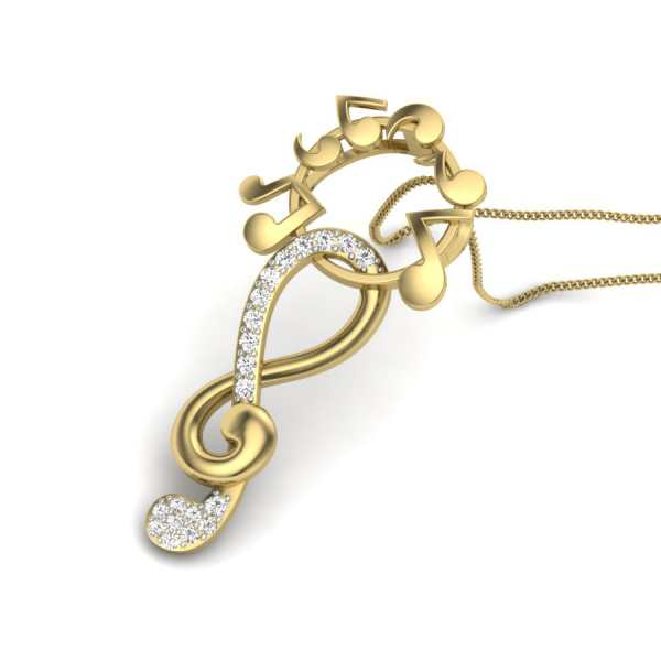 Musical Shine Diamond Pendant