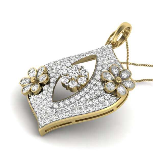 Falling Lines Diamond Pendant
