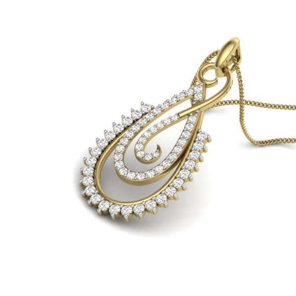 Peer Shape Diamond Pendant