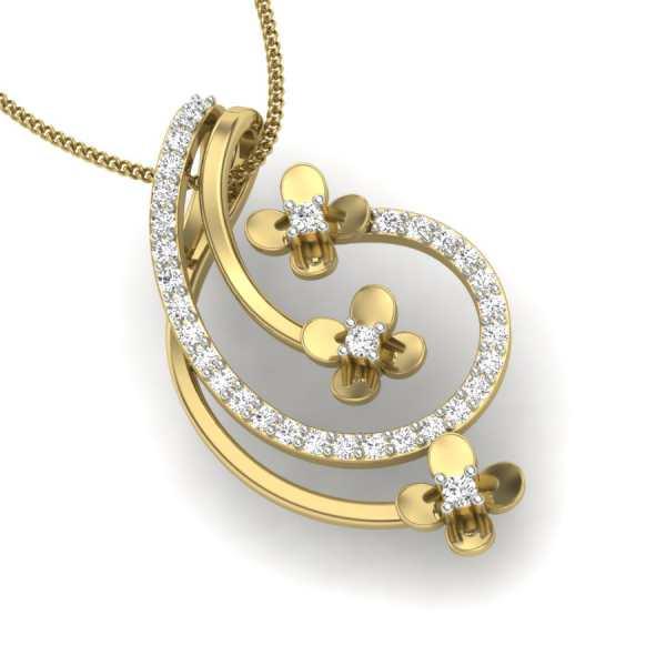 Trifloral Diamond Pendant
