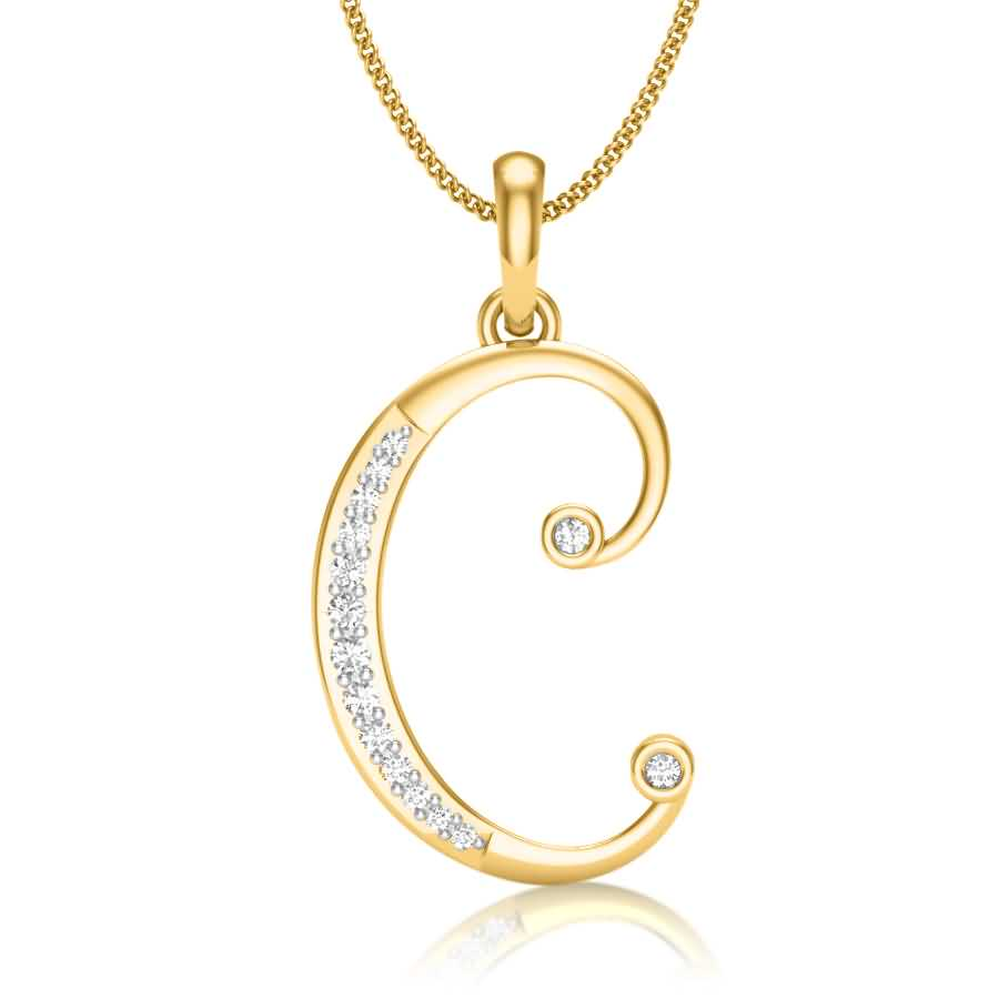 C Diamond Pendant
