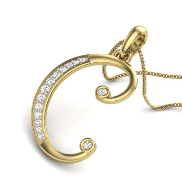 C Diamond Pendant