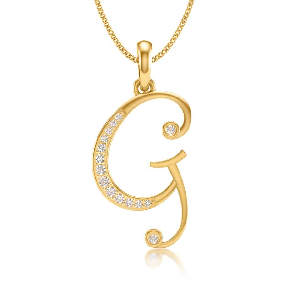 G Diamond Pendant
