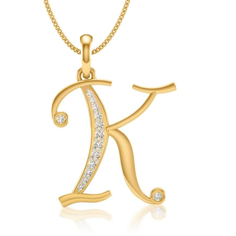 K Diamond Pendant