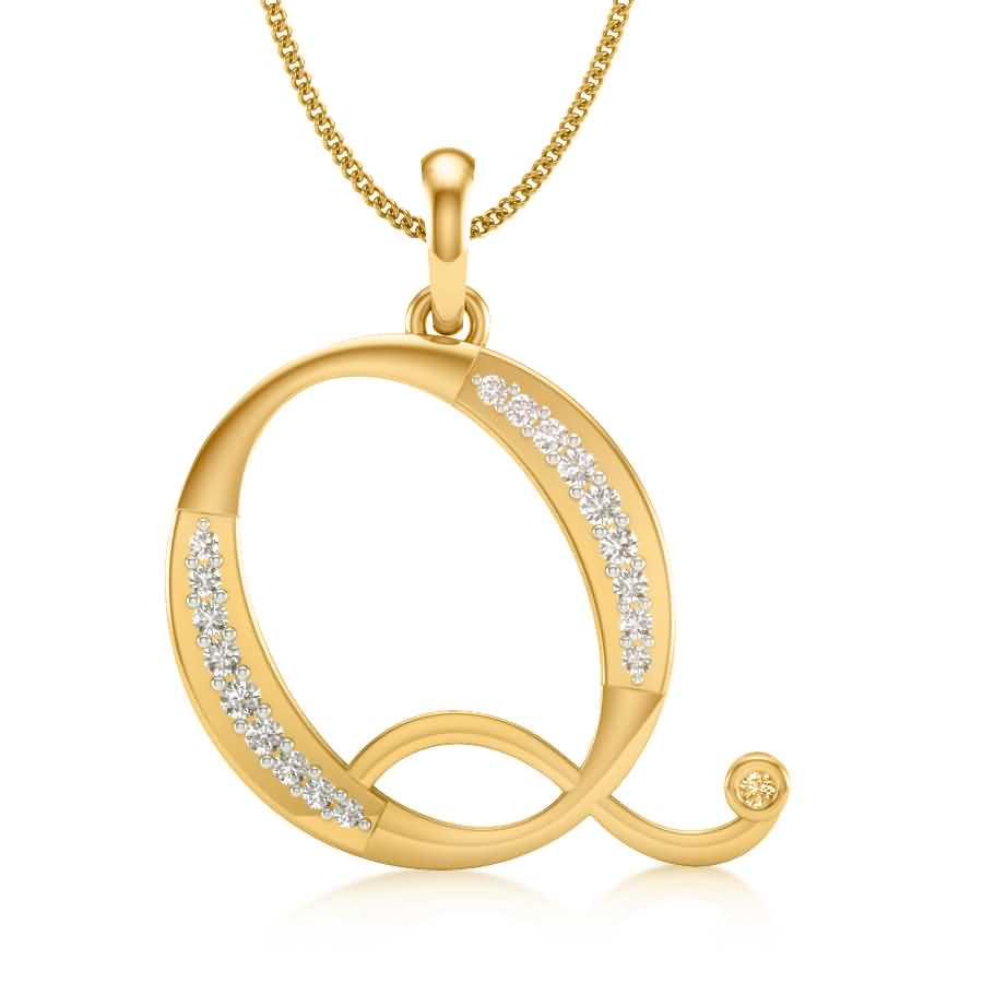 Q Diamond Pendant