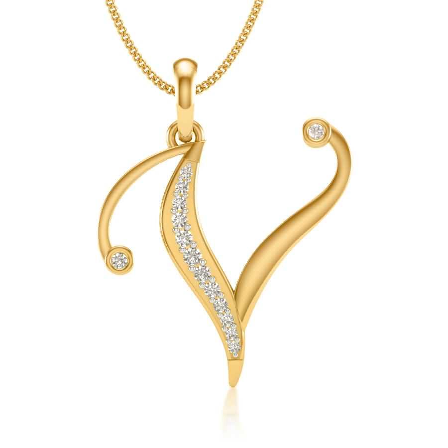 V Diamond Pendant