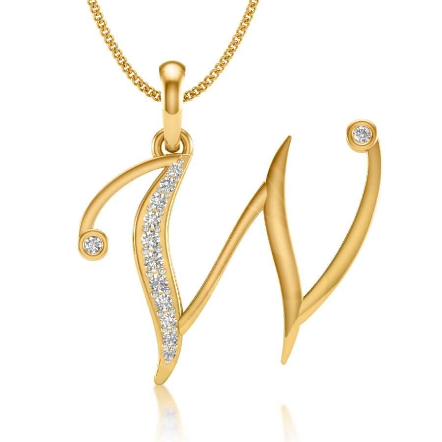 W Diamond Pendant