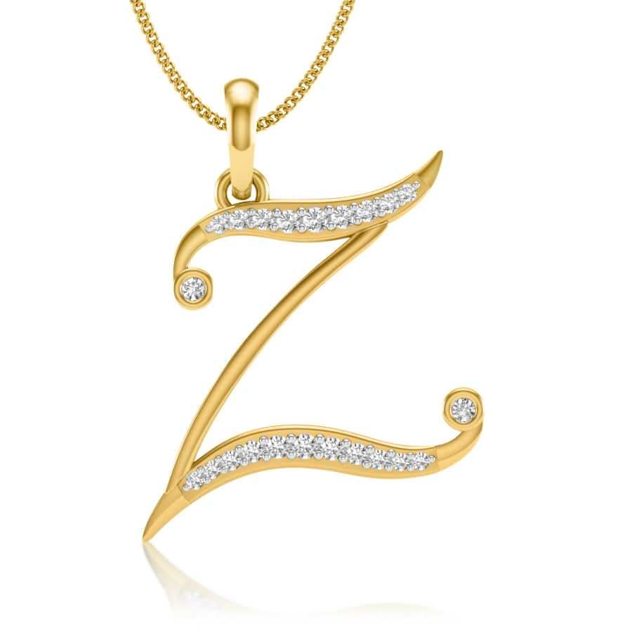 Z Diamond Pendant