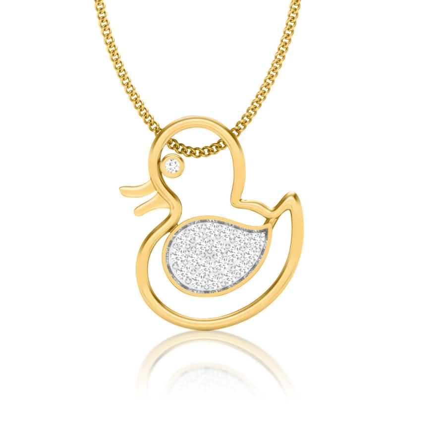 Dazzling Baby Duck Pendant