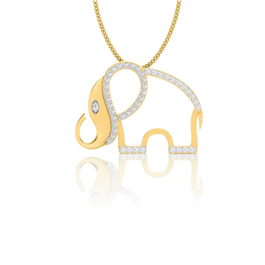 Jumbo Face Diamond Pendant