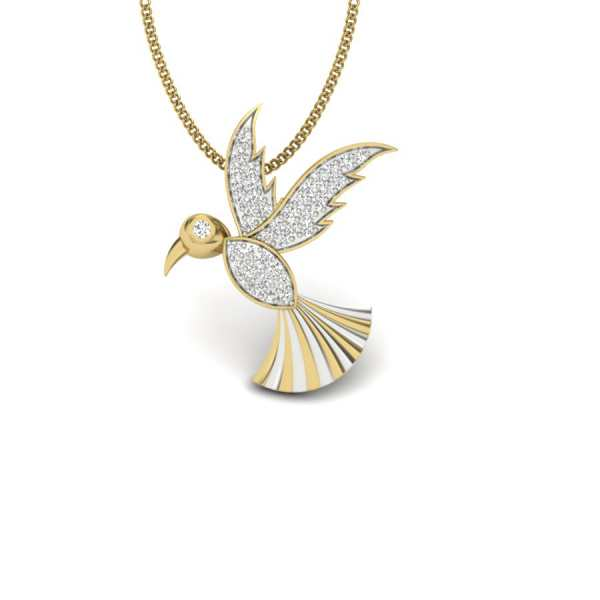 Flying Bird Diamond Pendant